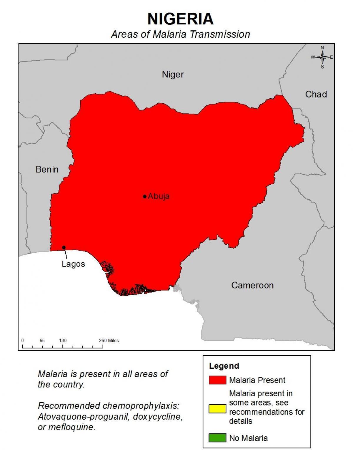 Nigerian Malaria Kartta Kartta Nigeria Malaria Lansi Afrikka